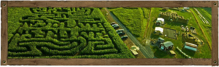 Butcher's Fun Farm and Corn Maze Aerial View - Newport, PA
